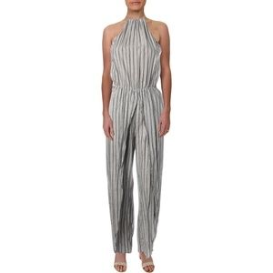 Gorgeous New Striped Cute High Neck Jumpsuit